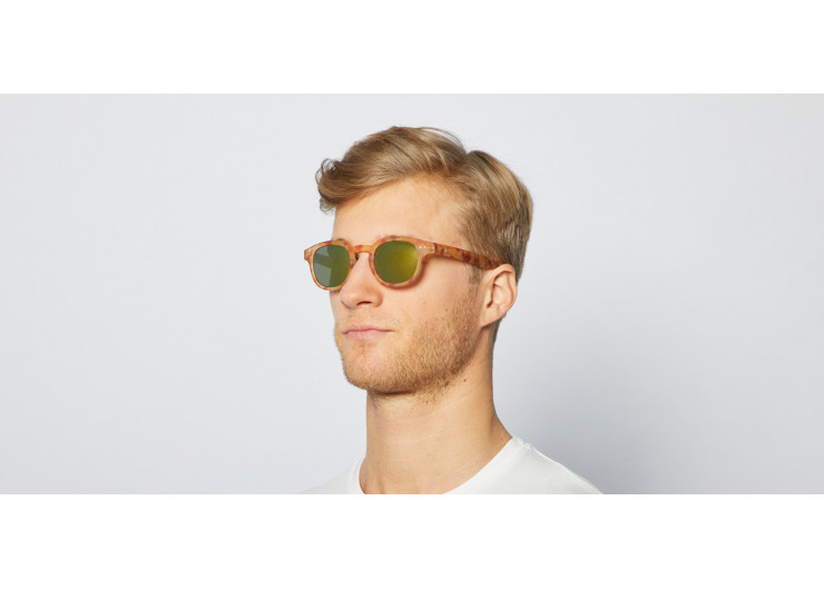 Izipizi C SUN Yellow Tortoise Mirror sunglasses