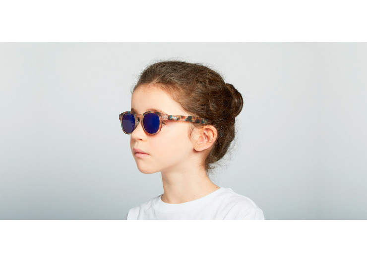 Izipizi C SUN JUNIOR Blue Tortoise Mirror sunglasses kids