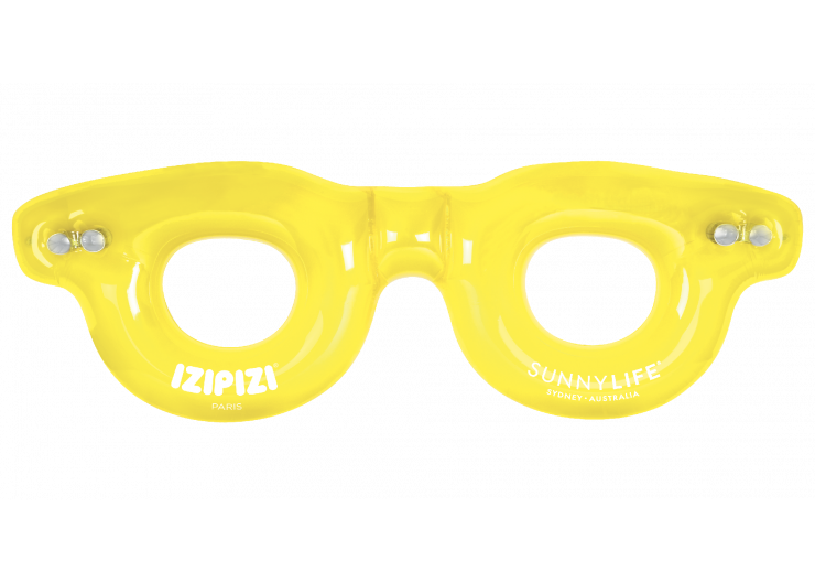 Twin Pool Ring IZIPIZI-SUNNY LIFE Yellow Chrome