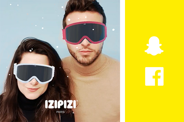 Wow! Discover IZIPIZI's new filters on SNAPCHAT...